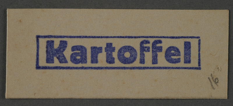1995.89.1043 front Coupon for potatoes issued in the Kovno ghetto
