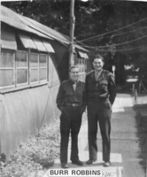 Sydney L. Burr (on left) with Robbins Dachau at liberation; death train; SS bodies  Click to enlarge