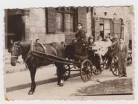 Americans in Warsaw after visiting Nasielsk Jewish quarter of Nasielsk  Click to enlarge