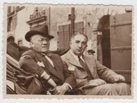 Louis Malina and David Kurtz in Warsaw after visiting Nasielsk Jewish quarter of Nasielsk  Click to enlarge