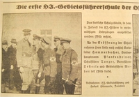 News of Nazi and Hitler Youth leaders associated with opening the school Training at a Hitler Youth camp  Click to enlarge