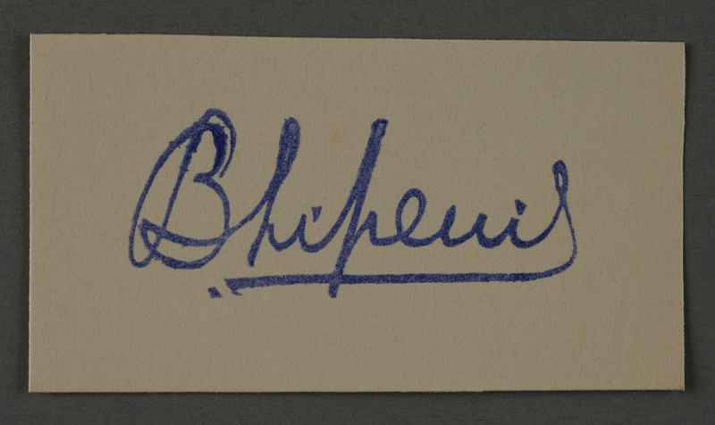 1995.89.1055 front Ink stamp impression signature of an official in the Kovno ghetto