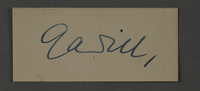 1995.89.1058 front Signature of Fritz Gadiel, head of the Graphics Department in the Kovno ghetto  Click to enlarge