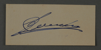 1995.89.1064 front Ink stamp impression signature of an official in the Kovno ghetto  Click to enlarge