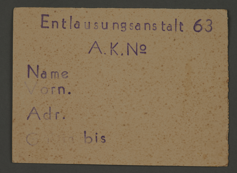 1995.89.108 front Pass from the Kovno ghetto