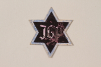 1995.89.1080 front Jewish Ghetto Police badge from the Kovno ghetto  Click to enlarge