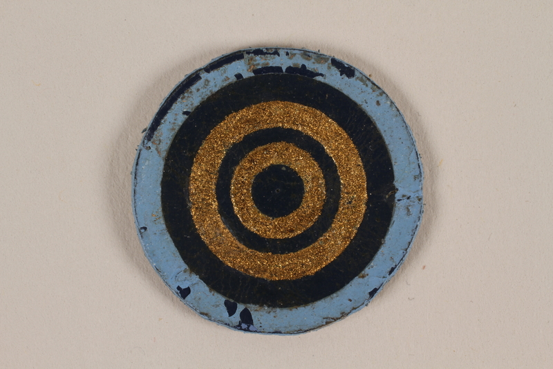 1995.89.1086 front Jewish Ghetto Police insignia from the Kovno ghetto