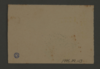 1995.89.113 back Ration coupon from the Kovno ghetto  Click to enlarge