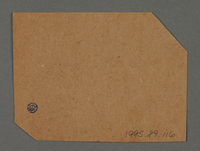 1995.89.116 back Ration coupon from the Kovno ghetto  Click to enlarge