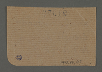 1995.89.117 back Ration coupon from the Kovno ghetto  Click to enlarge