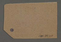 1995.89.118 back Ration coupon from the Kovno ghetto  Click to enlarge