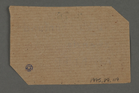 1995.89.119 back Ration coupon from the Kovno ghetto  Click to enlarge