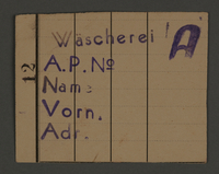 1995.89.136 front Work permit from the Kovno ghetto  Click to enlarge