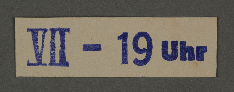 1995.89.147 front Ink stamp impression from an administrative department of the Kovno ghetto