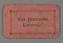 Coupon for the public kitchen in the Kovno ghetto
