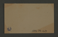 1995.89.163 back Ink stamp impression of the 2nd region of the Jewish ghetto police in the Kovno ghetto  Click to enlarge