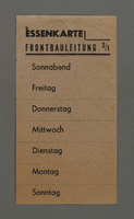 1995.89.170 front Meal card for workers in the Kovno ghetto  Click to enlarge