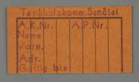 1995.89.178 front Work permit from the Kovno ghetto  Click to enlarge