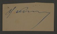 1995.89.186 front Signature of Moshe Levin, Chief of Jewish Ghetto police in the Kovno ghetto  Click to enlarge