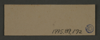 1995.89.192 back Ink stamp impression likely from the school department of the Kovno ghetto  Click to enlarge