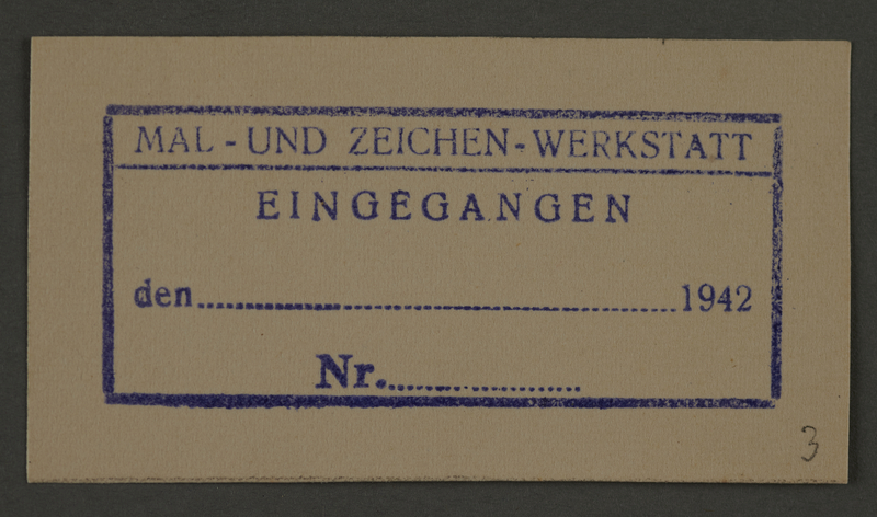 1995.89.201 front Receipt for the Paint and Sign Workshop in the Kovno ghetto