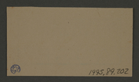 1995.89.202 back Permit ink stamp impression of the Paint and Sign Workshop of the Altestenrat (Council of Elders) of Kovno the ghetto  Click to enlarge