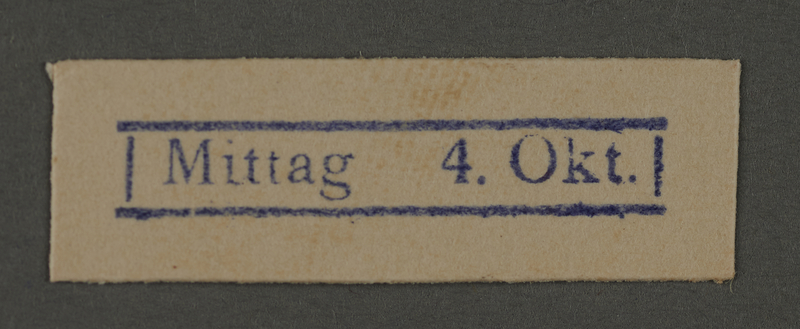 1995.89.280 front Ink stamp impression from an administrative department of the Kovno ghetto