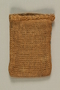 Burlap purse made from a mattress cover by a Jewish Czech concentration camp inmate