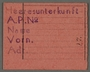 Work assignment slip from the Kovno ghetto for labor in German army quarters