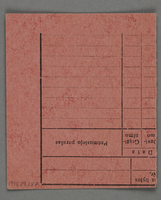 1995.89.287 back Work assignment slip from the Kovno ghetto  Click to enlarge