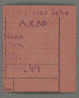 1995.89.287 front Work assignment slip from the Kovno ghetto  Click to enlarge
