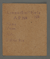 1995.89.290 front Work assignment slip from the Kovno ghetto  Click to enlarge
