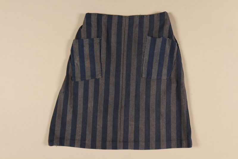 1989.303.24 front Concentration camp uniform skirt worn by a Czech Jewish inmate