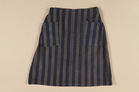 1989.303.24 front Concentration camp uniform skirt worn by a Czech Jewish inmate  Click to enlarge