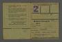Labor card from the Kovno ghetto