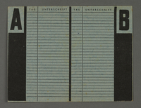 1995.89.302 back Labor card from the Kovno ghetto  Click to enlarge