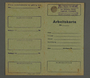 Work permit from the Kovno ghetto