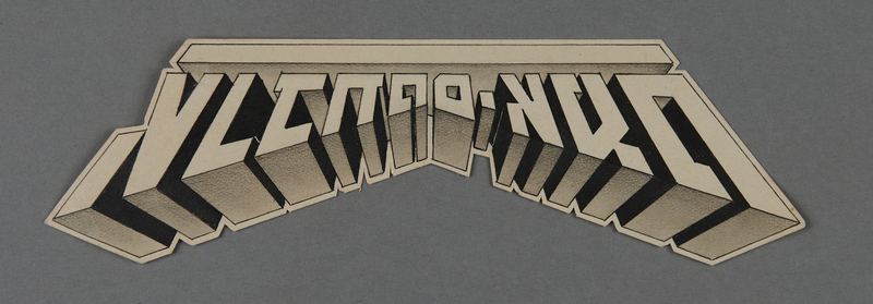 1995.89.324 front Kovno ghetto Labor office logo designed by the ghetto graphics workshop