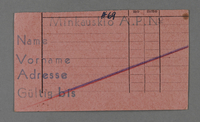 1995.89.330 front Work permit from the Kovno ghetto  Click to enlarge