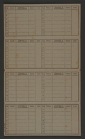 1995.89.336 back Time, ration and pay card from the Kovno ghetto  Click to enlarge