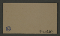 1995.89.343 back Signature ink stamp impression from the Kovno ghetto  Click to enlarge