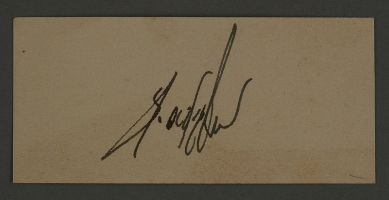 1995.89.346 front Sample signature from an administrative department of the Kovno ghetto
