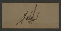 1995.89.346 front Sample signature from an administrative department of the Kovno ghetto  Click to enlarge