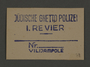 Permit stamp impression from the Jewish Ghetto Police, Precinct 1, of the Kovno ghetto