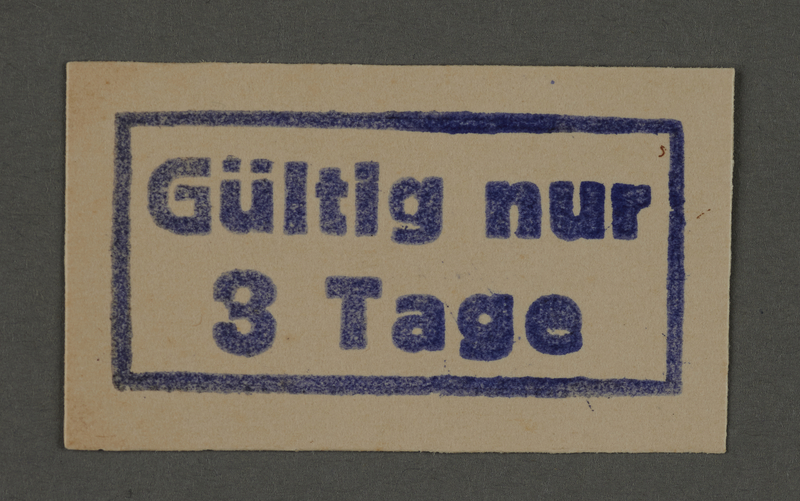 1995.89.364 front Ink stamp impression from an administrative department of the Kovno ghetto