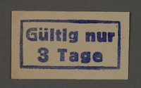 1995.89.364 front Ink stamp impression from an administrative department of the Kovno ghetto  Click to enlarge