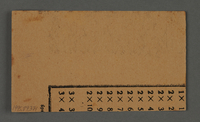 """1995.89.371 back Work assignment slip for labor at """"Ordnance/Supply Depot A"""" near the Kovno ghetto  Click to enlarge"""