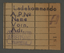 Work assignment slip from the Kovno ghetto for the loading/shipping unit