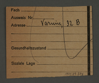 1995.89.376 back Work assignment slip from the Kovno ghetto for the loading/shipping unit  Click to enlarge