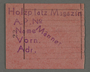 Work assignment slip from the Kovno ghetto issued to men